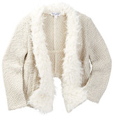 Splendid Knit Faux Fur Open Jacket (Little Girls)