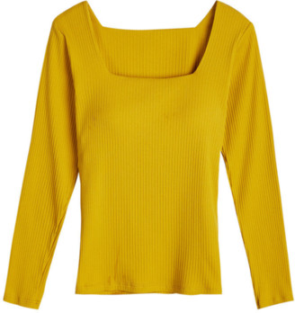 Goodnight Macaroon 'Jess' Square Neck Padded Knitted Top (4 Colors)