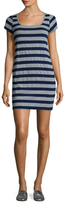 Susana Monaco Striped Cap Sleeve Mini Dress