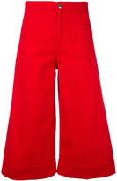 The Seafarer - flared cropped trousers - women - Cotton - 25