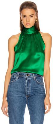 Saloni Michelle B Top in Emerald Green | FWRD