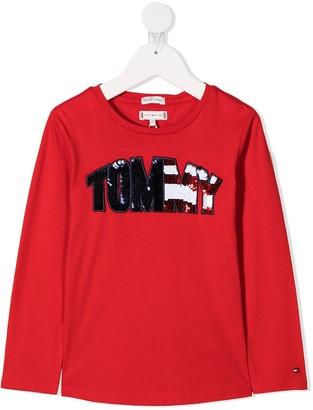 Tommy Hilfiger Junior sequin-embellished T-shirt