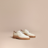 Burberry Leather Wingtip Brogues , Size: 43.5, White