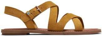 Toms Amber Gold Suede Women's Sicily Sandals