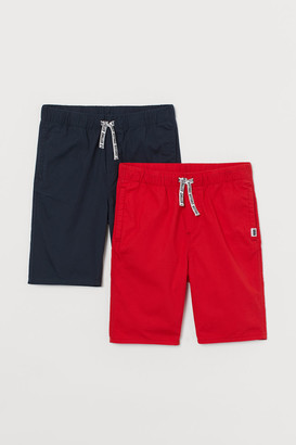 H&M 2-pack Cotton Shorts - Red