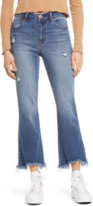1822 Denim High Waist Raw Hem Jeans
