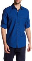 Calvin Klein Chambray Stripe Dobby Roll Tab Shirt