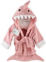 "Baby Aspen let the fin begin"" terry shark bath robe"