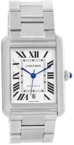 Cartier Tank Solo XL W5200028 Stainless Steel Automatic 31mm Mens Watch