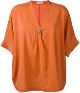 Brunello Cucinelli shift blouse - women - Silk/Spandex/Elastane/Brass - S