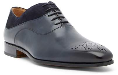 Magnanni Clay Brogued Leather & Suede Oxford