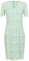 Blumarine Square Neck Lace Dress