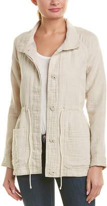 James Perse Gauze Linen-Blend Parka Jacket
