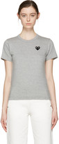 Comme des Garcons Grey Heart Patch T-Shirt