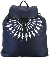 Neil Barrett lightning bolt back - men - Leather/Polyurethane - One Size