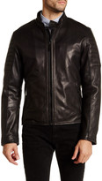Elie Tahari Genuine Leather Moto Cross Jacket