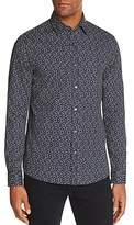 Michael Kors Dot Print Slim Fit Long Sleeve Button-Down Shirt