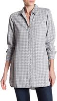 Foxcroft Long Sleeve Oversize Glen Tunic