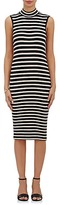 ATM Anthony Thomas Melillo WOMEN'S STRIPED RIB-KNIT MIDI-DRESS