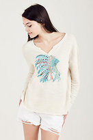 True Religion Embroidered Womens Pullover
