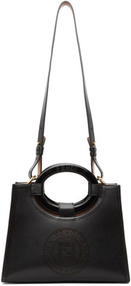 Fendi Black Perforated Runway Shopper Tote