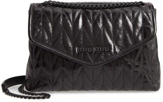 Miu Miu Matelasse Quilted Leather Shoulder Bag