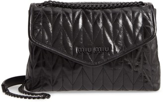Miu Miu Matelasse Quilted Leather Shoulder Bag