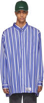 Vetements Blue and White Oversized Stripe Shirt
