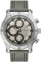 Kenneth Cole Reaction Men's Sport Gray Faux-Leather Strap Watch 48mm