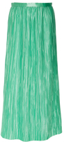 Tibi Pleated Midi Skirt