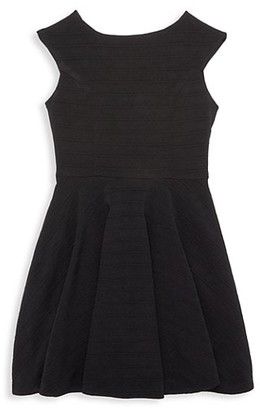 Un Deux Trois Girl's Textured Dress