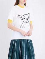 Markus Lupfer Hand drawn Frenchie cotton-jersey T-shirt
