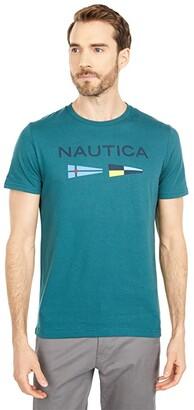 Nautica Signal Flags Graphic T-Shirt (Medium Grey Heather) Men's T Shirt