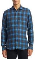 Saks Fifth Avenue MODERN Brushed Linen Flannel Shirt