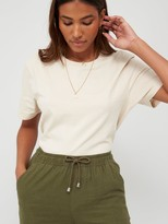 Very Linen Mix Trousers - Khaki