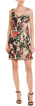 Anna Sui Rose Garland Shift Dress