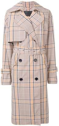 Christian Wijnants check print Chika trench coat