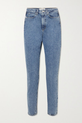 SLVRLAKE Beatnik Cropped High-rise Slim-leg Jeans - Mid denim