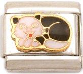 FindingKing Sleeping Cat Italian Charm Enamel Bracelet Jewelry 9mm