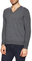 Burberry Wool Elbow Patch V-Neck Sweater