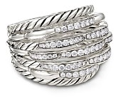 David Yurman Tides Dome Ring with Diamonds