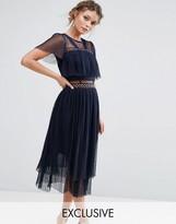 True Decadence Midi Dress with Eyelet Detail