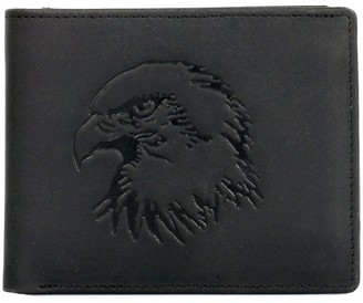 Hanson Karla Men's Leather Wallet with Eagle