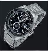 TAG Heuer Tag Heuer Pre-Owned Gents Carrera Heuer 01 Chronograph Steel Watch. Black Dial. Ref CAR201Z
