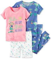 Carter's 4-Pc. Hula All Day Cotton Pajama Set, Baby Girls (0-24 months)
