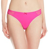 Betsey Johnson Women's Slinky and Lace Thong Panty