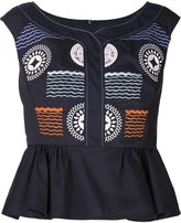 Peter Pilotto 'Iris' top - women - Cotton/Polyamide/Spandex/Elastane - 8