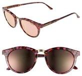 Smith Optics Women's 'Questa' 49Mm Cat Eye Sunglasses - Amber Tortoise/ Green