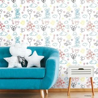 Room Mates RoomMates Disney Mickey Mouse Peel & Stick Wallpaper