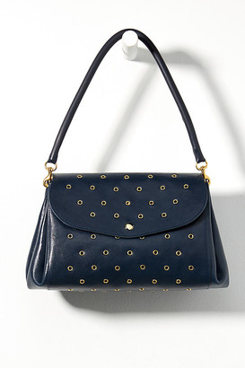 Clare Vivier Studded Clutch By in Blue